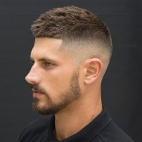 Crew Cut High Bald Fade Shape Up