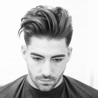 Hairstyles For Diamond Faces Thick Brushed Up Hair Fade