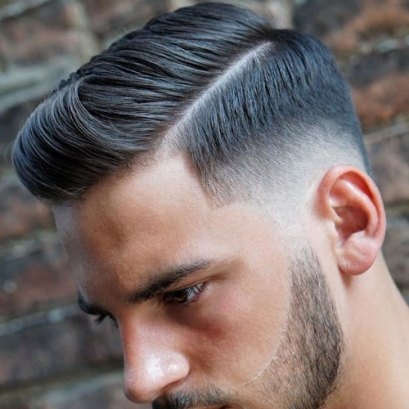 Hard Side Part Low Taper Fade Beard