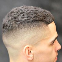 High Razor Fade With Textured Cro