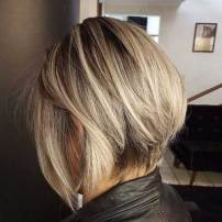 Inverted Blonde Bob Hair