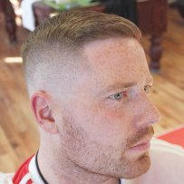 Ivy League High Skin Fade Side Swept Fringe