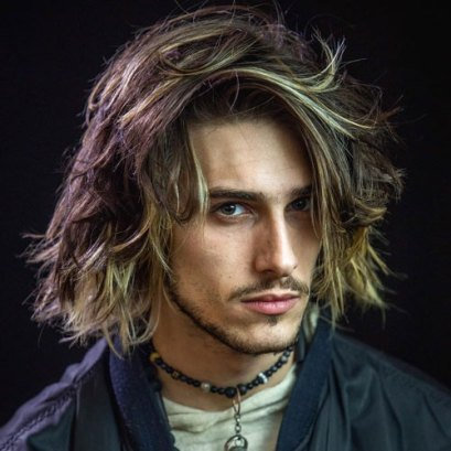 Long Hairstyles For Men With Thick Hair Shoulder Length Messy Hair