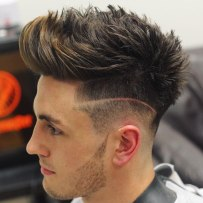 Low Taper Fade With Textured Top