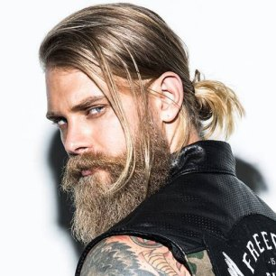 Man Bun Long Beard