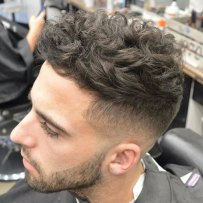 Messy Wavy Hair Cut Short High Fade