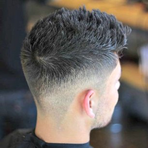 Textured Modern Spikes Low Taper Fade