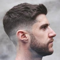 Thick Haircuts Side Swept Fringe Crew Cut