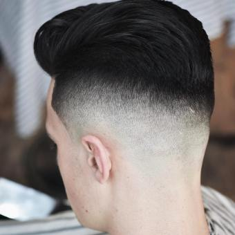 Barber.josh .o.p High Fade Haircut Thick Hair Men Sweep Back