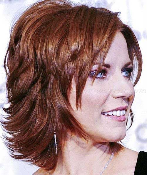 6.Layered Short Hair