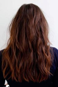Light Brown Hair Styles Long Wavy Tousled Brazilian