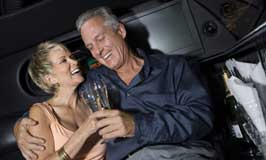special occasion limo being enjoyed by couple