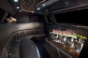interior tuxedo 10 passenger limo