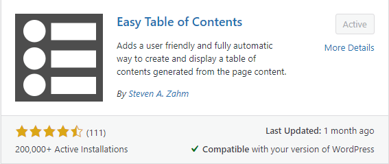 Table Of Contents Plugin For SEO