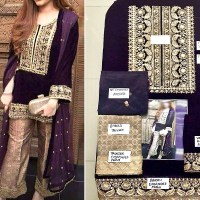 GUL AHMED WINTER EMBROIDERED VELVET SUITS