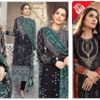 Get Flat 30% Off Embroidered EID Lawn Suits for Women's