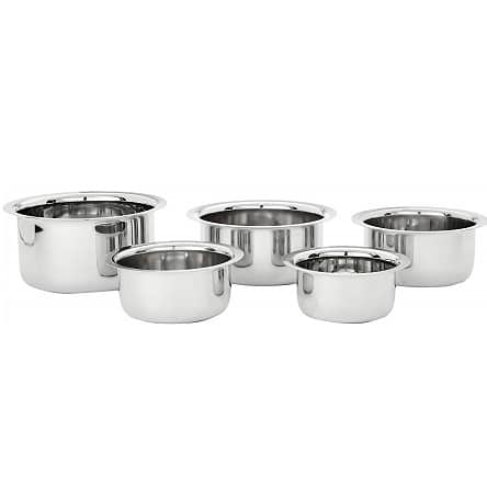 Stainless Steel Tope Set (5 pieces, Induction and Gas compatible)