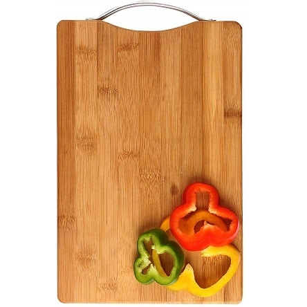 Cutting Board with Antibacterial Surface and Finger Hole