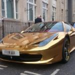 GOLD Ferrari 458 Spider - A Car You Won't Miss!