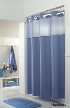mystery white hookless shower curtain vinyl no 774 774 hbh40mys01srs
