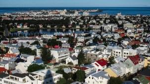 Reykjavik vue d'en haut