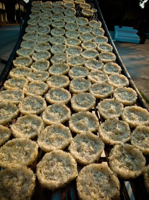 Galettes de riz gluant séchées