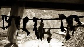 La viande sèche allègrement devant la fenêtre de notre chambre... © Topich