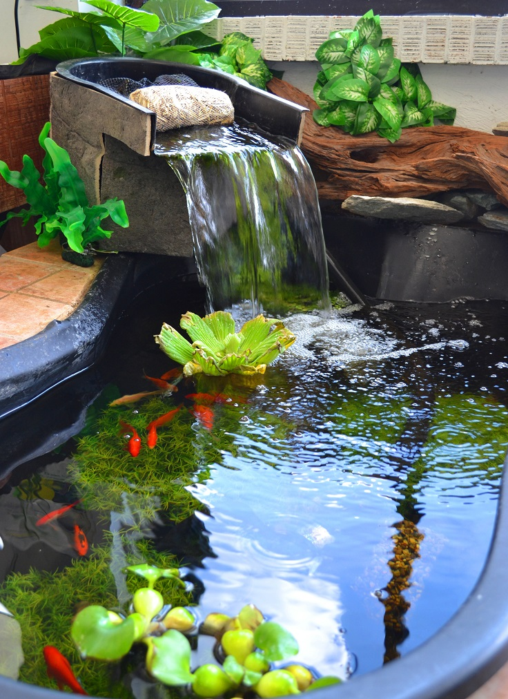 Top 10 Garden Aquarium and Pond Ideas to Decorate Your ... on Yard Ponds Ideas id=53044