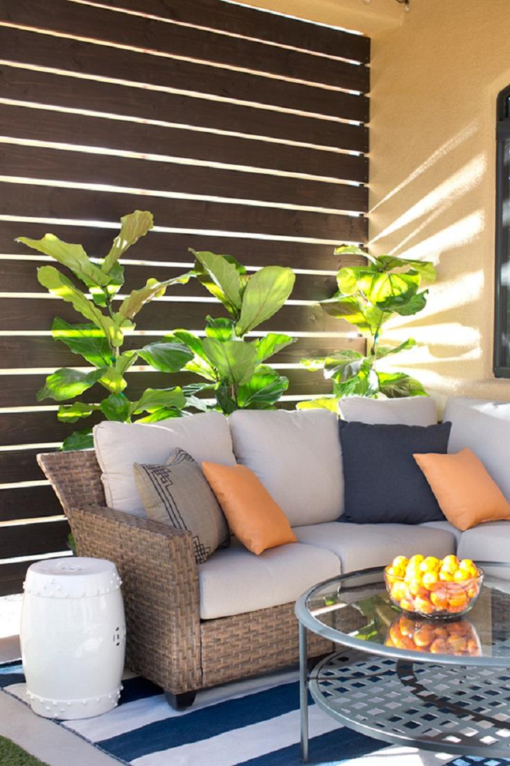 TOP 10 Clever DIY Patio Privacy Screen Ideas on Diy Backyard Deck Ideas id=28132