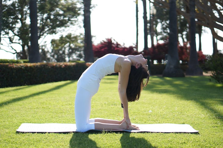 When you are experiencing your worst PMS days try these easy yoga poses, you will be surprised how effective they are for menstrual cramps. #Yoga #YogaPoses #PMS
