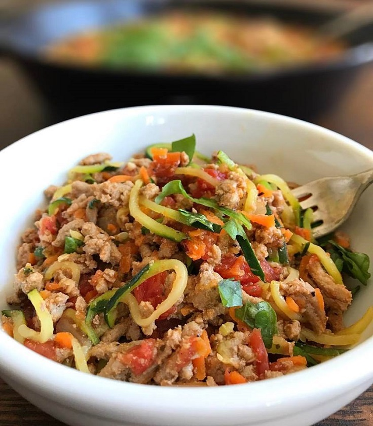 9. Zucchini Noodles with Turkey Vegetable Marinara | Top 10 Healthy and Delicious Zucchini Noodles Recipes