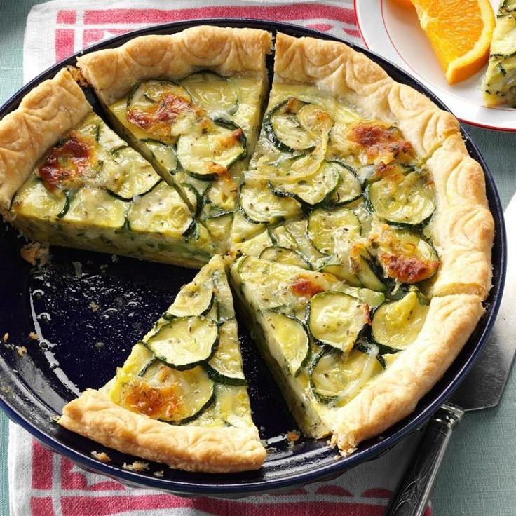 3. Cheesy Zucchini Quiche
