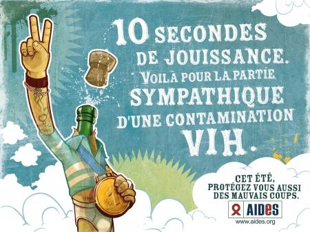 10 secondes 450 Top 35 des affiches et campagnes de pub choc contre le SIDA