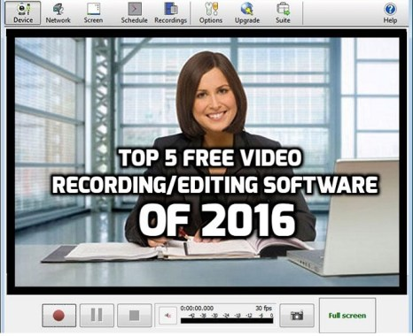 Top 5 Video Recording and Editing Software of 2016