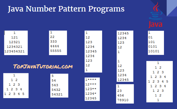 java number pattern programs