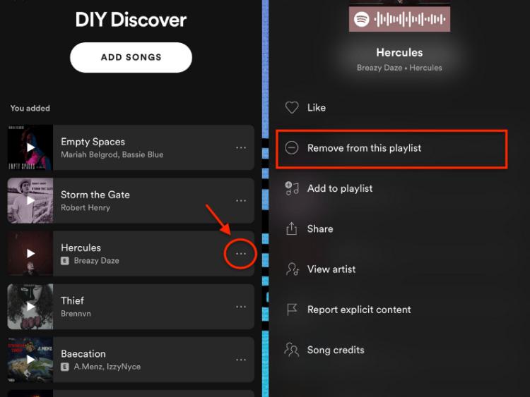 create spotify playlist