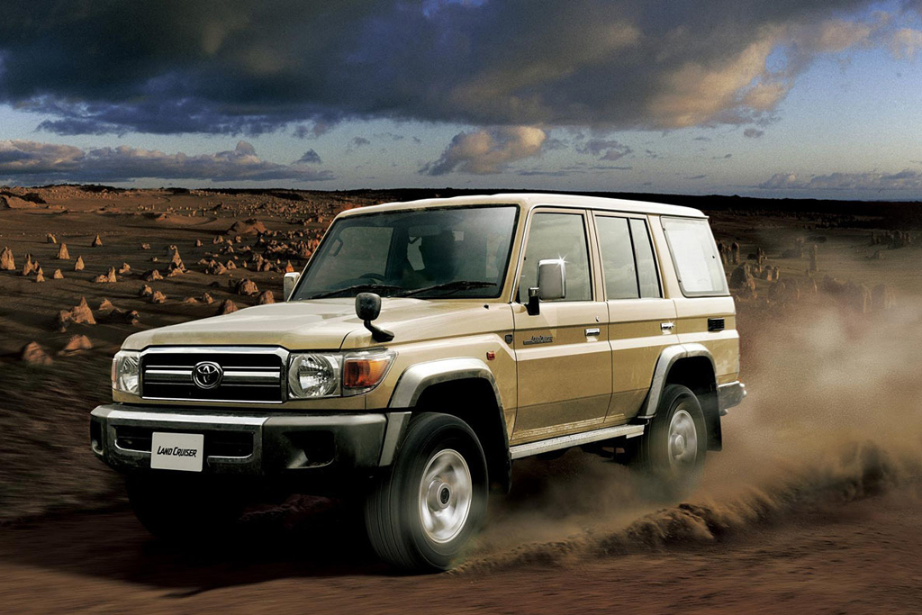 toyota re releases the iconic land cruiser fj70 in japan. Black Bedroom Furniture Sets. Home Design Ideas