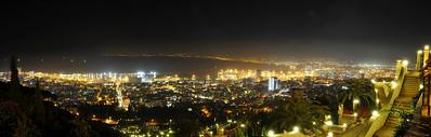 Night lights of Haifa, Israel