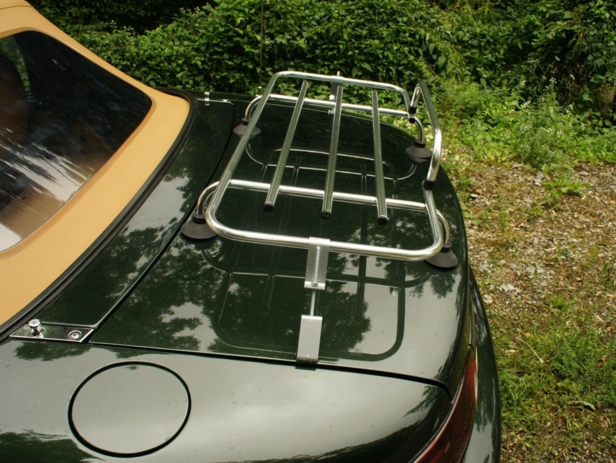 classic chrome luggage rack