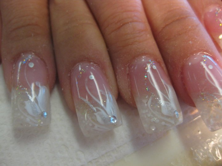 Crystal Diamond Wedding Nail Designs Top Nails