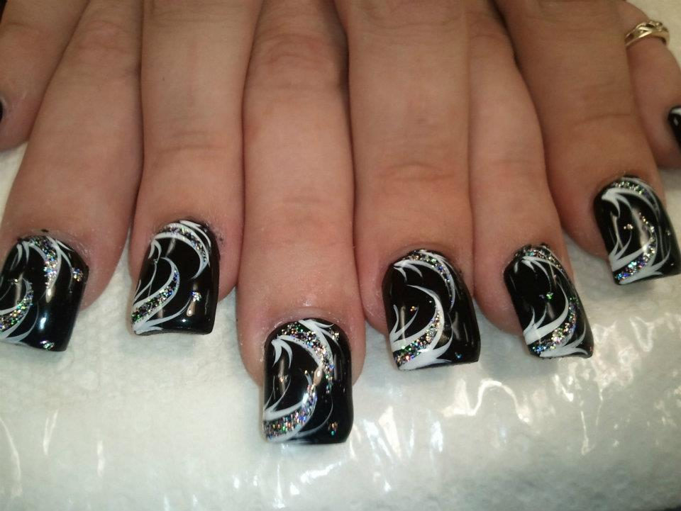 Onyx Joy, nail art designs by Top Nails, Clarksville TN.   Top Nails