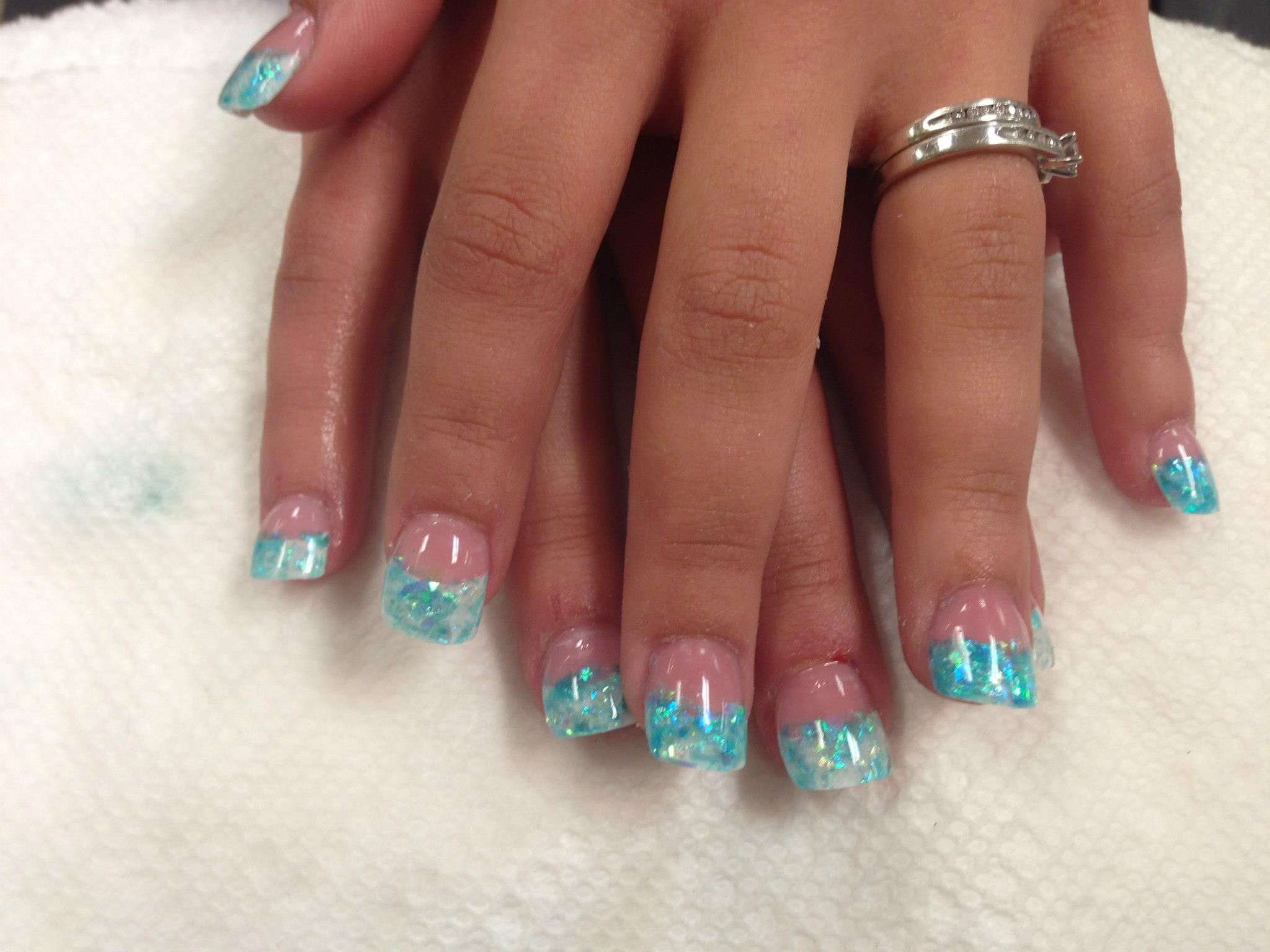 Ocean Reflections Nail Art Designs By Top Nails Clarksville Tn