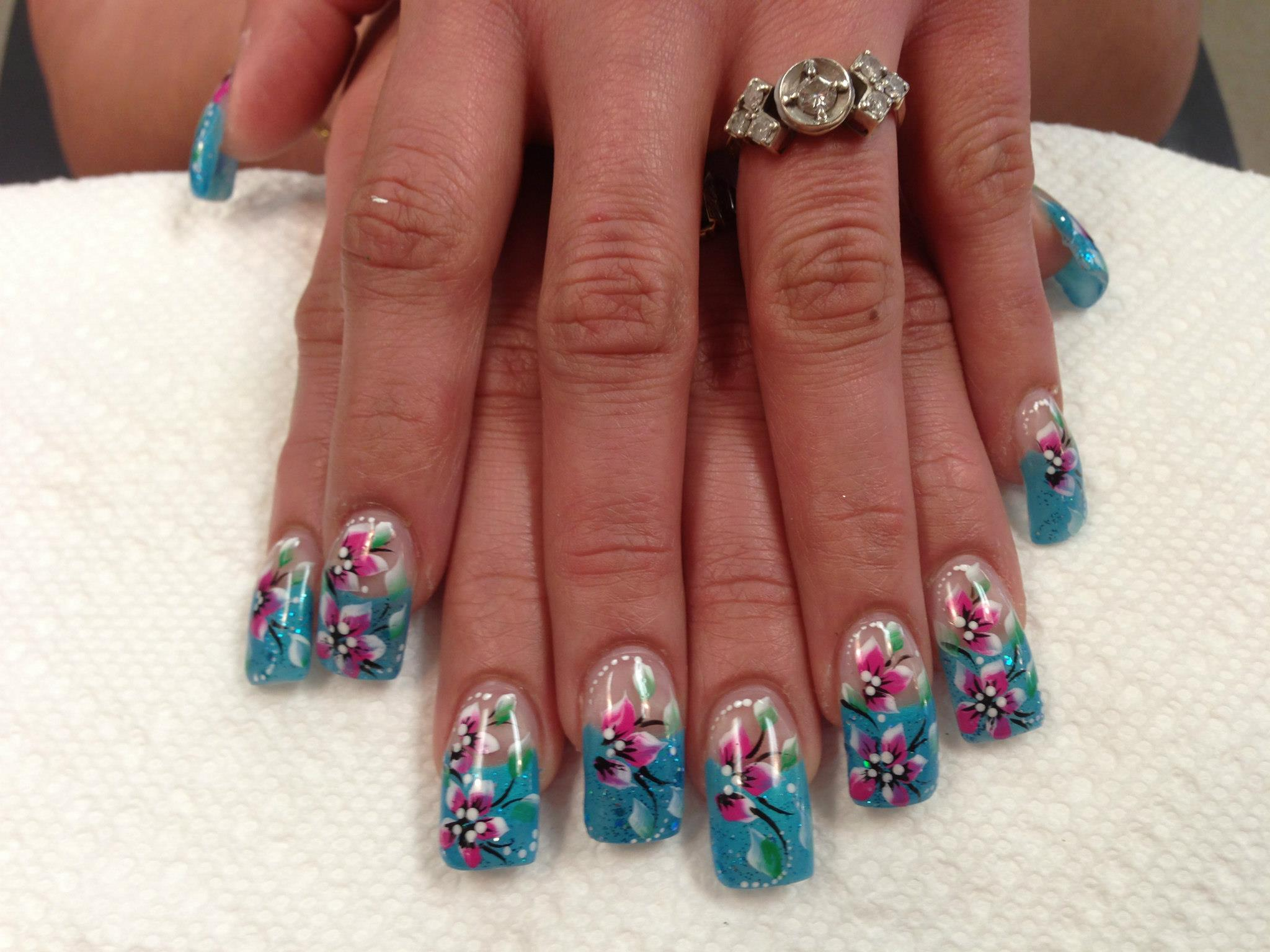 Lily of Winter, nail art designs by Top Nails, Clarksville TN. | Top ...