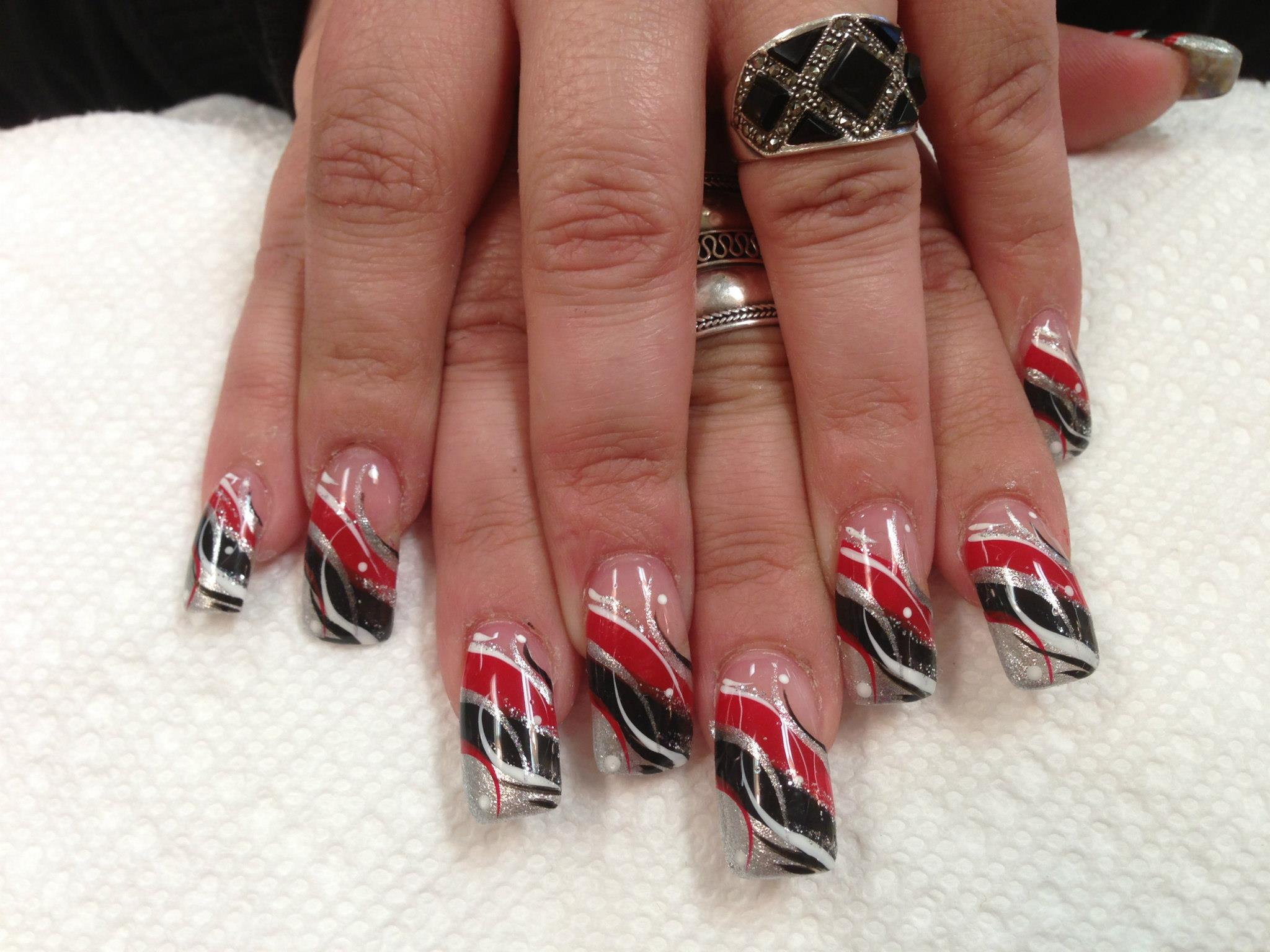 Gothic Swirl, nail art designs by Top Nails, Clarksville TN. | Top Nails