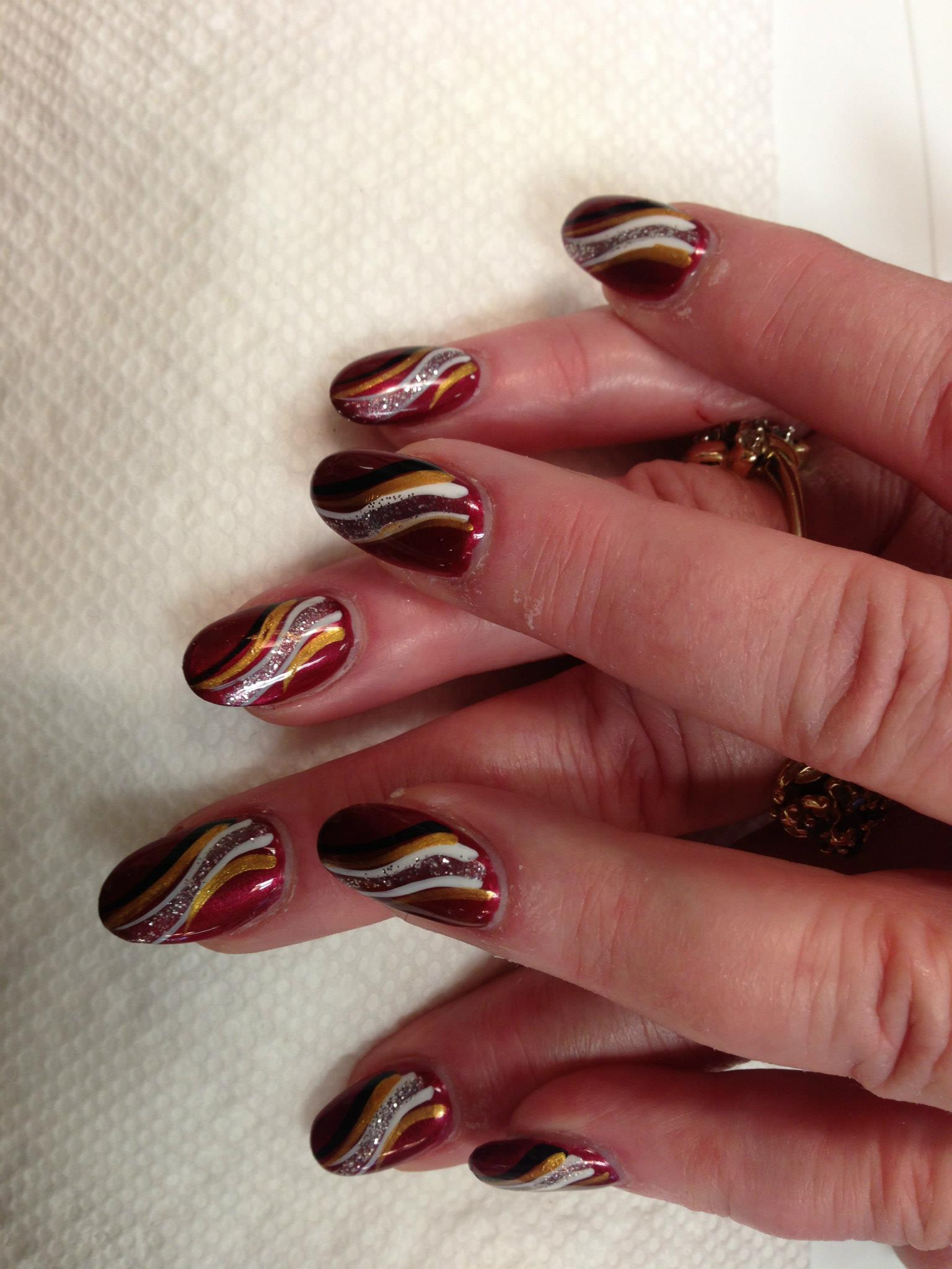 The Picture of Wealth, nail art designs by Top Nails, Clarksville TN ...