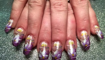 Purple tiger stargazer nail art designs by top nails clarksville royal stargazer lily nail art designs by top nails clarksville tn prinsesfo Image collections