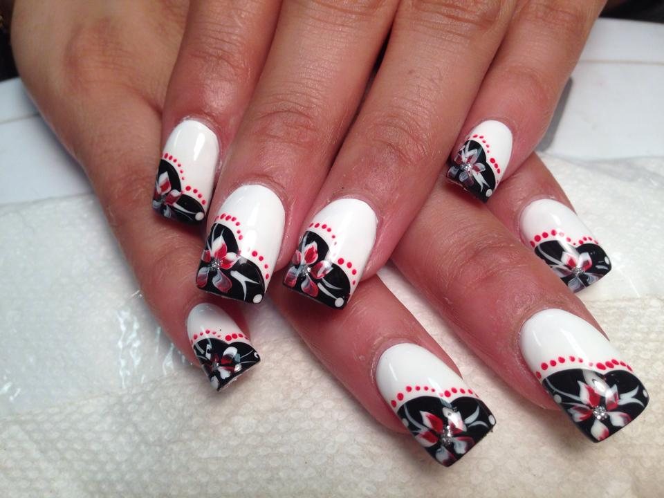 Lily of Love, nail art designs by Top Nails, Clarksville TN. | Top Nails