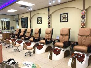 New pedicure chairs with back massage features