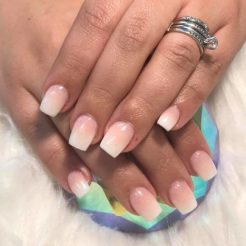 Simple yet beautiful ombre nails