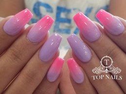 """""""I'm a Barbie girl"""". SNS dip powder ombre nails"""